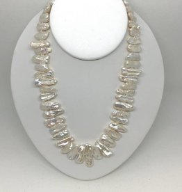 .925 Stick Pearl Necklace