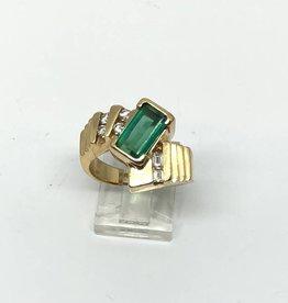 14kt Tourmaline and Diamond Ring