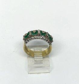18kt Emerald and Diamond Band