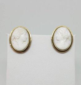 14kt  Female Cameo Earrings