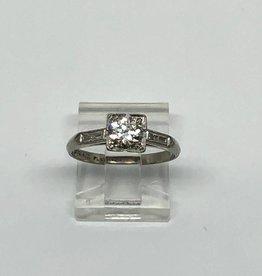 .50ct Platinum Antique Engagement Ring