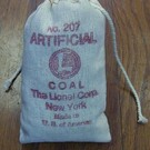 Henning's Trains No.207 Artificial Lionel Bag of Coal