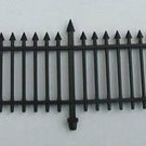 Henning's Parts 156-5, 12Pcs. 2 Section Black Fence
