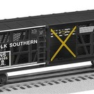 Lionel 6-19585 Norfolk Southern Transparent Instruction Car