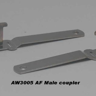 "Model Engineering Works AW3005 Male Coupler, 3 1/4"", 1 Pc."