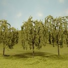 "Bachmann 32014 Willow Trees 3""-3.5"", 3Pcs."
