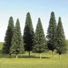 """Bachmann 32101 Pine Trees 3""""-4"""", 9Pcs."""