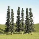 """Bachmann 32103 Conifer Trees 3""""-4"""", 9Pcs."""