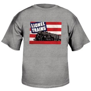 Lionel 9-00237 Large Adult Gray T-Shirt w/1942 Flag