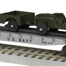 American Flyer 6-48580 U.S. Navy Flatcar with Military Vehicles