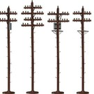 Lionel 6-49872 S-Scale Telephone Poles
