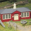 Bachmann 45611 Schoolhouse with Playground Equipment, Bachmann Plasticville