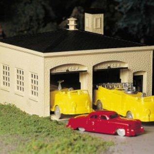 Bachmann 45610 Fire House with Vehicles, Bachmann Plasticville