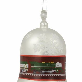 Lionel 9-22021 Silver Bell Express Blown Glass Bell Ornament