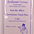 Gargraves 803-3 Gargraves Track Pins, 1 oz.