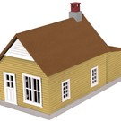 MTH 30-90008 Mustard & Red Work House #1