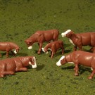 Bachmann 33152 Cows- Brown & White, O Scale