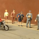 Bachmann 33151 City People with Motorcycle, O Scale
