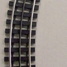 "Gargraves 63-101-S 63"" Curved Track Section w/Plastic Ties"