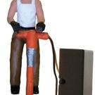 Model Power 7003-1 Construction Worker w/Jackhammer