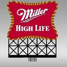 Miller Engineering 8061 Miller High Life Super Animated Neon Sign