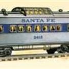 Lionel 6-27767 Santa Fe O27 Streamlined Blue Stripe Passenger Car 4-Pack