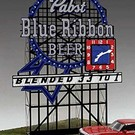 Miller Engineering 4081 Pabst Blue Ribbon Beer Animated Roadside Billboard
