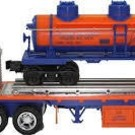 TMT-18410 Lionel Flatbed Toy Truck w/3-Dome Tank Car