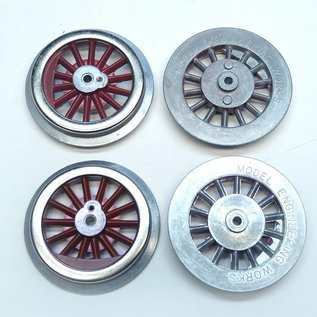 Model Engineering Works BAL-4R Steam Wheel Set for 384/390, 4:36, Red Spoke