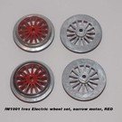 Model Engineering Works IW1001 Ives Electric Wheel Set, Narrow Motor, Red Spoke 4Pcs