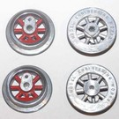 Model Engineering Works 255WS-R, Wheel Set for 250, 260 & 263 Loco, Red Spoke