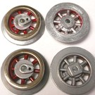 Model Engineering Works 261E-WR-3, Wheel Set for 261, 262 Loco, Red Spoke, 3 Sets