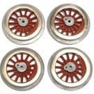 Model Engineering Works BAL-8R Steam Wheel Set, 8:32, Red Spoke, 3 sets