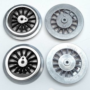 Model Engineering Works BAL-8B Steam Wheel Sets, 8:32, Black Spoke, 3 Sets