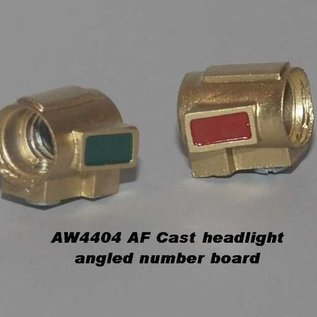 Model Engineering Works AW4404 Cast Headlight w/Bulb, Painted Brass