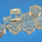 Henning's Parts 352-29, 1000 Pcs. Clear Plastic Ice Cube