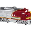 Lionel 9-22053 Santa Fe Locomotive Plastic Ornament