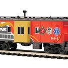MTH 20-91593 First Responders Bay-Window Caboose
