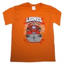 Lionel 9-51023MED Youth T-Shirt Orange Lightening, Y-Medium