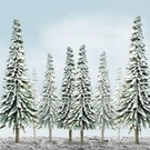 "JTT 92008 Scenic Snow PIne, 6""-10"" Tall, 12pack"