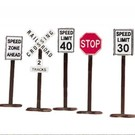 MTH 30-1087 Road Signs, 16Pcs