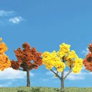 "Woodland Scenics 4153 Autumn Trees, 2""-3"", 4 Pcs"