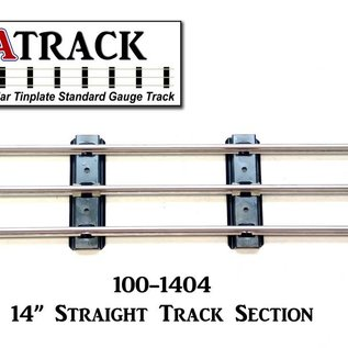 "USA Track LLC 100-1404 14"" Straight Track Section, 4-ties, USA"