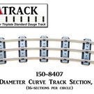 "USA Track LLC 150-8407 84"" Diameter Curve Track, 7-ties, USA"