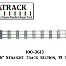 "USA Track LLC 100-3613 36"" Straight Track Section, 13-ties, USA"