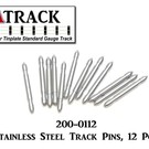 USA Track LLC 200-0112 Stainless Steel Track Pins, 12 Pcs.