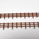 Henning's Trains 1877-5B Long Fence for Horse Flatcar, Brown, 2 PCS.