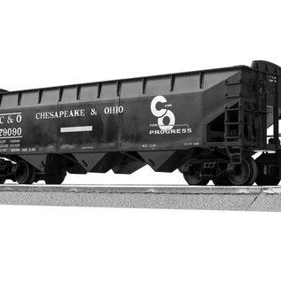 Lionel 3-16090-1 C&O 3-Bay Offset Hopper, single car, LionScale