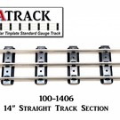 "USA Track LLC 100-1406 14"" Straight Track Section, 6-ties, USA"