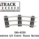 "USA Track LLC 150-4235 42"" Diameter 1/2 Curve Track Section, 3 Tie"